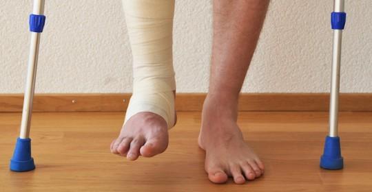 Сломанный голеностоп травма опасная